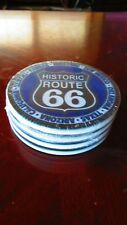 Ceramic Route 66 Coasters 1 Set Of 4