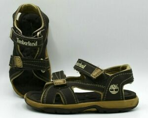 TIMBERLAND BOY BROWN SANDALS SIZE 10 TODDLERS