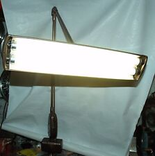 Vintage Mid Century Industrial Magic Arm Floating Florescent Desk Lamp w/ Clamp