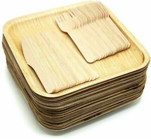 Perfect Disposable Party Plates Disposable Biodegradable Palm Leaf Material 20pc