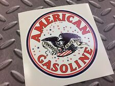 American gasoline vintage rétro voiture van, camion, sticker decal 90mm