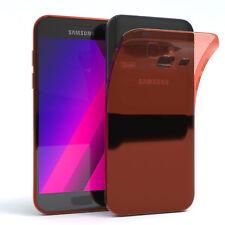 Ultra Slim Cover für Galaxy A3 (2017) Case Silikon Hülle Transparent Orange