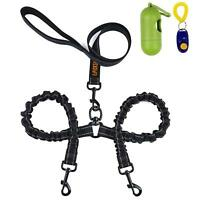 Dual Dog Leash, 360° Swivel No Tangle Double Dog Walking & Training Leash