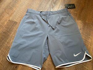 Nike - Court Flex Herren Tennisshort (grau) - M