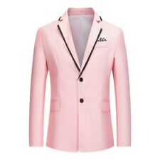 Men's Single Breasted Blazer Jacket Slim Fit Casual Long sleeve Prom Wedding D