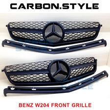 Mercedes Benz W204 Only C63AMG Front Grille 2008-2011 Matte Black