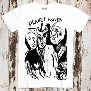 Bob Dylan Planet Waves Rock Folk Blues Tee Top Unisex Vintage T shirt White Tee