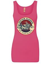 Custom Classics Women's Tank Top Chopper Bobber Biker Rte 66 Live to Ride Top