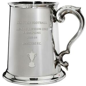 RANGERS FC 1963 1964 Division One Champions 1 Pint Pewter Tankard