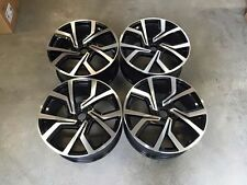 "18"" Vw Golf Gti Clubsport Style Roues Noir Brillant Usiné MK5 6 7 Audi A3"