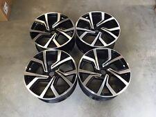 "19"" VW Golf GTi Clubsport Style Wheels Gloss Black Machined MK5 6 7 Audi A3"
