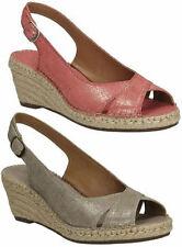 Sandali e scarpe formale zeppa per il mare da donna 100% pelle