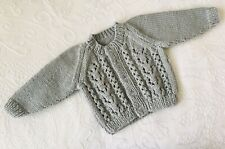 Brand new  Hand knitted Baby Cardigan 0 - 3 months
