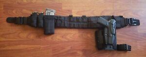 "US Grunt Gear Infidel 4"" Padded War Belt w/ Safariland ALS holster black small"