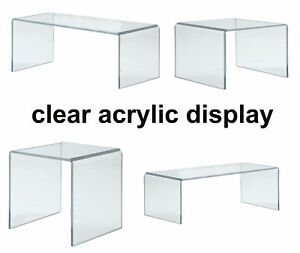Acrylic Display Shelves- Clear Display Plastic Perspex Stands Risers -Hoverstand