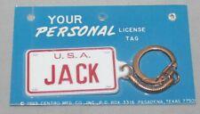 Vintage 1969 USA Jack License Plate Plastic Key Chain