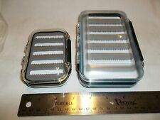 fly boxes waterproof double sided . Cfs 1 each large and small