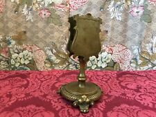 antiker Messing Steichholzschachtelhalter ca 0.61kg um 1890 seltenes Sammlerstüc