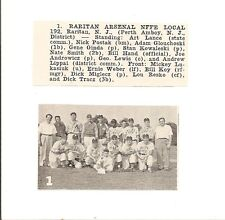Raritan Arsenal NFFE Local NJ 1952 Baseball Team Picture
