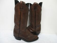 Brown Leather Neo Comp Soles Tall Cowboy Boots Womens Size 6.5 M Style 6949 USA
