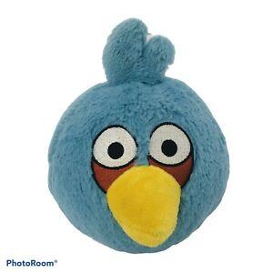 """Angry Birds Blue Bird Plush Stuffed Animal 6"""" NO SOUND Yellow Beak Rovio"""