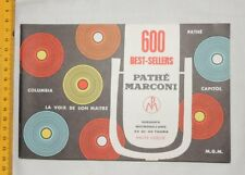 Catalogue vinyles : 600 best sellers Pathe Marconi - Neuf