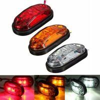 12/24V Car Truck Trailer Caravan UTE 2 LED Side Marker Clearance Light Lamp DOT