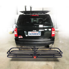 """500LBS Steel Cargo Carrier Luggage Basket 2"""" Receiver Hitch Hauler"""