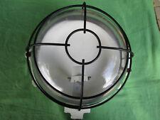 Applique hublot lampe MAPELEC industriel lourd fonte verre grille support 25 cm