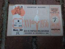 Melbourne Olympic Games 1956 Unused Freestyle Wrestling Ticket Nov 30