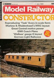 MODEL RAILWAY CONSTRUCTOR Magazine July 1981 - Marlow & Maidenhead MRC Layout
