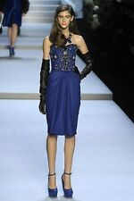 CHRISTIAN DIOR BY JOHN GALLIANO BEADED SEQUINED GOWN DRESS 40 FR 44 IT 8 US