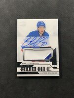2018-19 UD PREMIER BRETT HOWDEN ROOKIE AUTO PATCH SILVER FIRST PRINT #ed 1/249