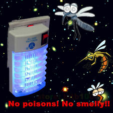 Electric Mosquito Fly Insect Pest Bug Trap Zapper Killer LED Socket Night Lamp