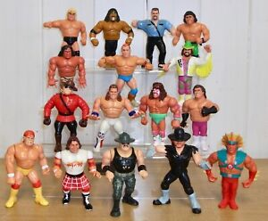 Set of 4 WWE/WWF Hasbro wrestling figures inc. Hulk Hogan, Macho Man & LOD