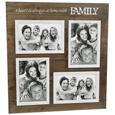Family Collage Photo Frame Holds 4 Photos Gift Idea