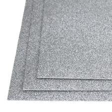 Self-Adhesive Glitter EVA Foam Sheet, 8-Inch x 12-Inch, 3-Piece, Silver