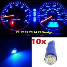 10x Blue T5 Smd Led Bulbs Dash Instrument Panel Cer Light 37 70 73 74 17