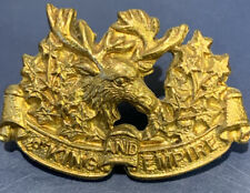 Canadian 1928 16th Canadian Light Horse Mazeas C27 Collar Badge - Lugs Intact