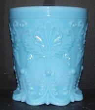 Portieux Vallerysthal PV France Blue Opaline Glass Vase