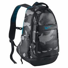 NWT NIKE Ultimatum Gear Laptop Backpack Bag BA5089-004 Anthracite Camo/Blue $120