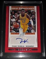 2019-20 ISAAC BONGA Great Significance NBA Hoops Auto Basketball Card #GS-IBG