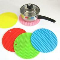 Silicone Tableware Dining Kitchen Round Placemat Insulation Pad Table  S