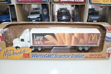 ERTL 1:64 Scale McDonald's Collection WHITE GMC TRACTOR TRAILER - LARGE FRIES