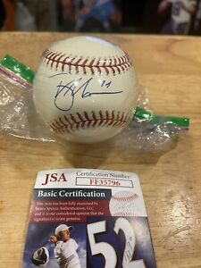Trey Mancini Signed Autographed Rawlings MLB Baseball W/ JSA Authentication