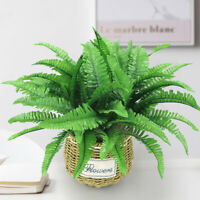 Artificial Fern Green Persian Leaves Flower Foliage Fake Plant Home Garden