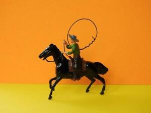 BRITAINS LEAD WILD WEST MOUNTED COWBOY WITH LASSO #106B 1954-59