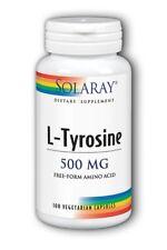 Free-Form L-Tyrosine 500mg Solaray 100 Caps