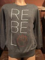 New Women's Star Wars Edition Rebel Text Logo Shine  Licensed Gray sweater XL