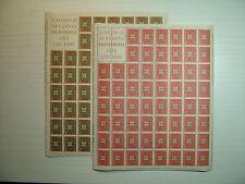 1963  ITALIA  30+70  lire   Europa   fogli  interi MNH**